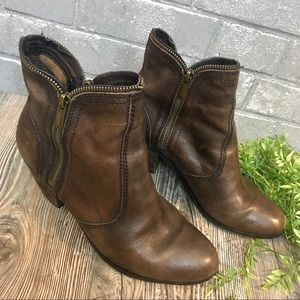 sam edelman // cocoa brown leather ankle boots 10